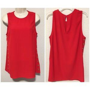 NWT Michael Kors red blouse size Medium